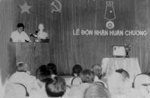 Lễ đón nhận Huân chương lao động hạng Ba năm 1986