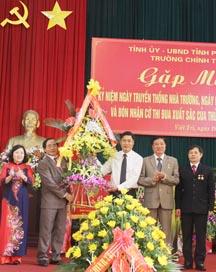 Lễ đón nhận Cờ thi đua của Thủ tướng Chính phủ năm 2015